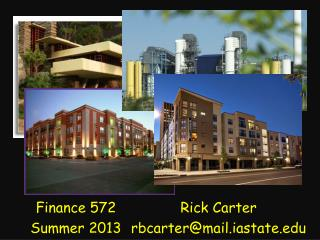 Finance 572 Summer 2013