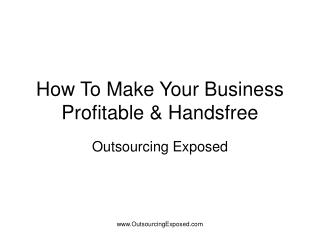 How To Make Your Business Profitable & Handsfree
