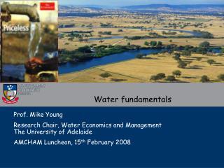 Water fundamentals