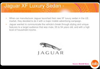 Jaguar XF Luxury Sedan - Build Awareness