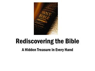 Rediscovering the Bible