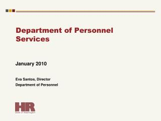 Department of Personnel Services