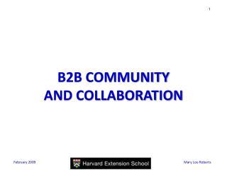 B2B COMMUNITY  AND COLLABORATION