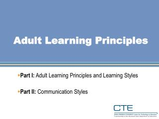 adult learning theory applications to non traditional The non-traditional student will meet learning objectives when  kenner c,  weinerman, j adult learning theory: applications to non-traditional.