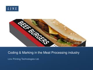 Coding & Marking in the Meat Processing industry