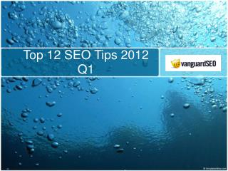 Top 12 SEO Tips 2012 Q1