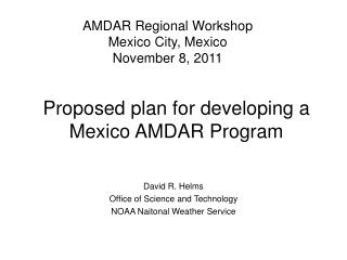 Proposed plan for developing a Mexico AMDAR Program
