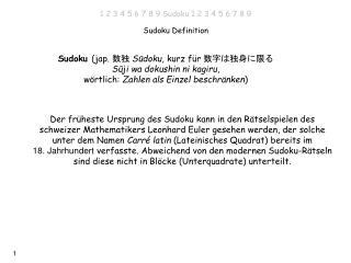 Sudoku Definition