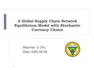 A Global Supply Chain Network Equilibrium Model with Stochastic Currency Choice