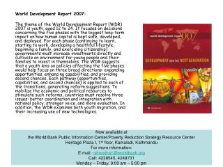 World Development Report 2007: