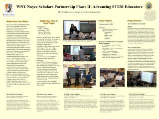 WNY  Noyce  Scholars Partnership Phase II: Advancing STEM Educators