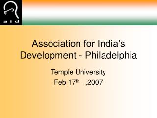 Association for India's Development - Philadelphia