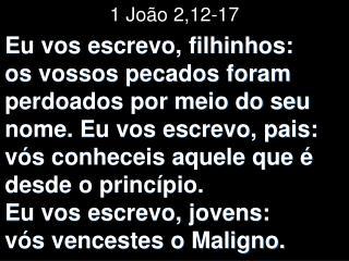 1 João 2,12-17