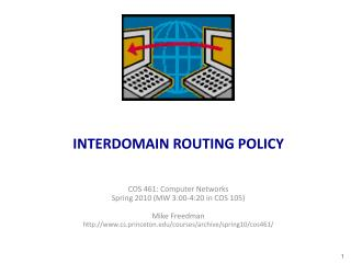 INTERDOMAIN ROUTING POLICY