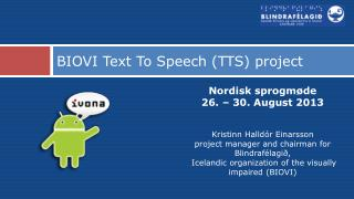 BIOVI  Text To  Speech (TTS) project