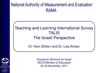 National Authority of Measurement and Evaluation RAMA