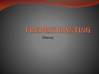Fredrik banting