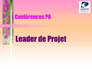 Conférences PA
