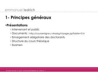 1- Principes g�n�raux