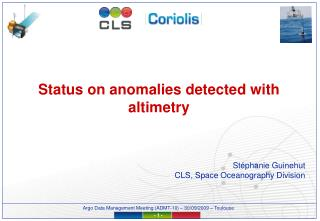 Status on anomalies detected with altimetry