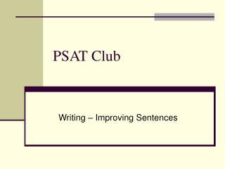 PSAT Club