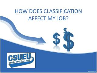 HOW DOES CLASSIFICATION AFFECT MY JOB?