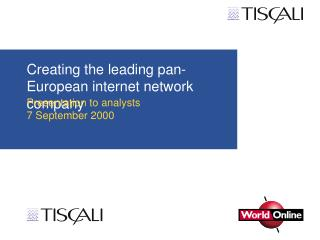 Creating the leading pan-European internet network company