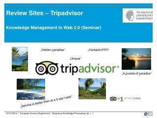 Review Sites – Tripadvisor