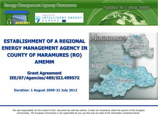 Grant Agreement  IEE/07/Agencies/489/SI2.499572