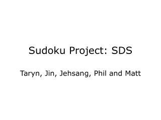 Sudoku Project: SDS