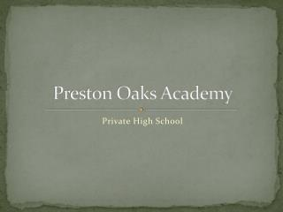 Preston Oaks Academy