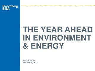 The Year AHEAD In Environment & Energy