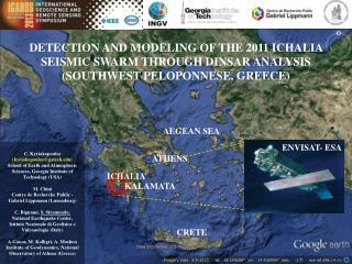 DETECTION AND MODELING OF THE 2011 ICHALIA SEISMIC SWARM THROUGH DINSAR ANALYSIS