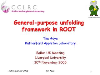 General-purpose unfolding framework in ROOT