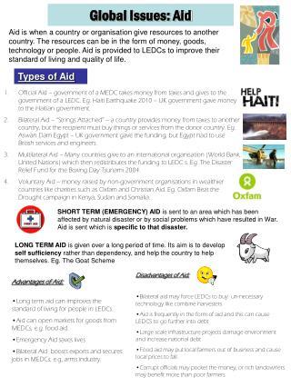 Global Issues: Aid