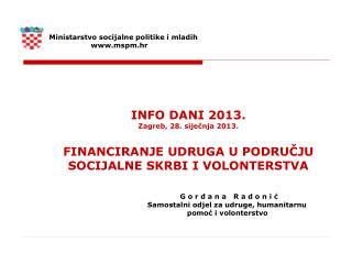 Ministarstvo socijalne politike i mladih                    mspm.hr