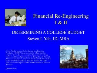 Financial Re-Engineering  I & II