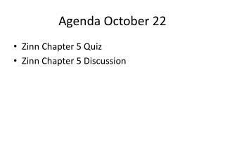 Agenda October 22