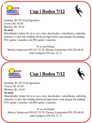 Cup i Boden 7/12