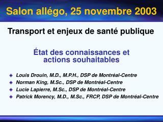 Transport et enjeux de santé publique