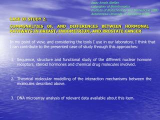 Isaac Amela Abellan  Laboratory of Bioinformatics
