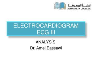 Electrocardiogram  ECG III
