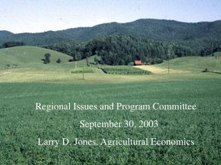 Regional Issues and Program Committee                   September 30, 2003
