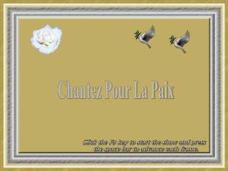 Chantez Pour La Paix