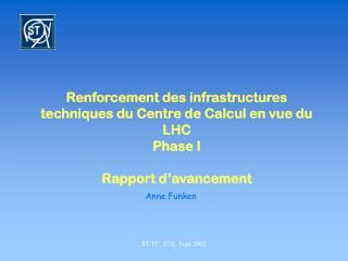 Renforcement des infrastructures techniques du Centre de Calcul en vue du LHC Phase I