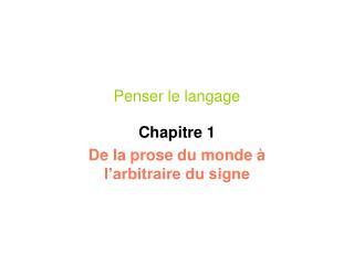 Penser le langage