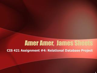 Amer Amer,  James Sheets