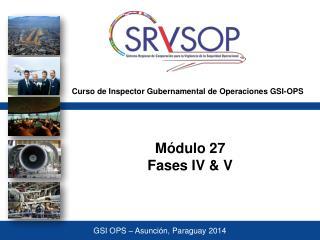 Curso de Inspector Gubernamental de Operaciones GSI-OPS