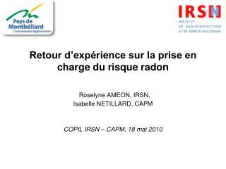 La d�marche de prise en charge du risque radon (1)