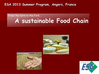 ESA 2013 Summer Program, Angers, France